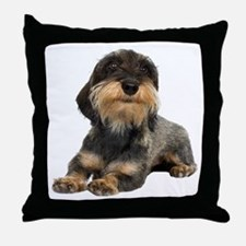 Wirehaired Dachshund Throw Pillow