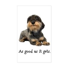 Good Wirehaired Dachshund Rectangle Decal