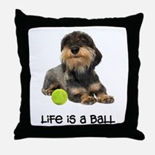 Wirehaired Dachshund Life Throw Pillow