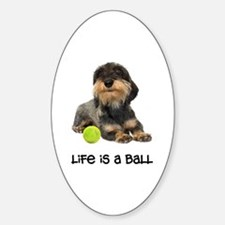 Wirehaired Dachshund Life Oval Decal