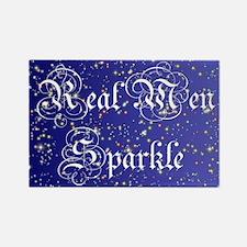 Real Men Sparkle Twilight Rectangle Magnet