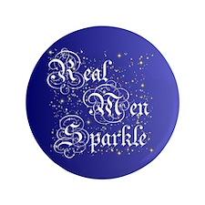 "Real Men Sparkle Twilight 3.5"" Button"