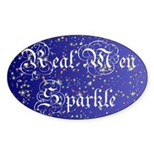Real Men Sparkle Twilight Oval Decal