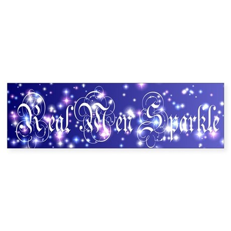 Real Men Sparkle Twilight Bumper Sticker
