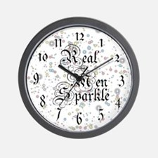 Real Men Sparkle Twilight Wall Clock