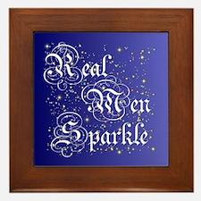 Real Men Sparkle Twilight Framed Tile