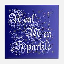 Real Men Sparkle Twilight Tile Coaster