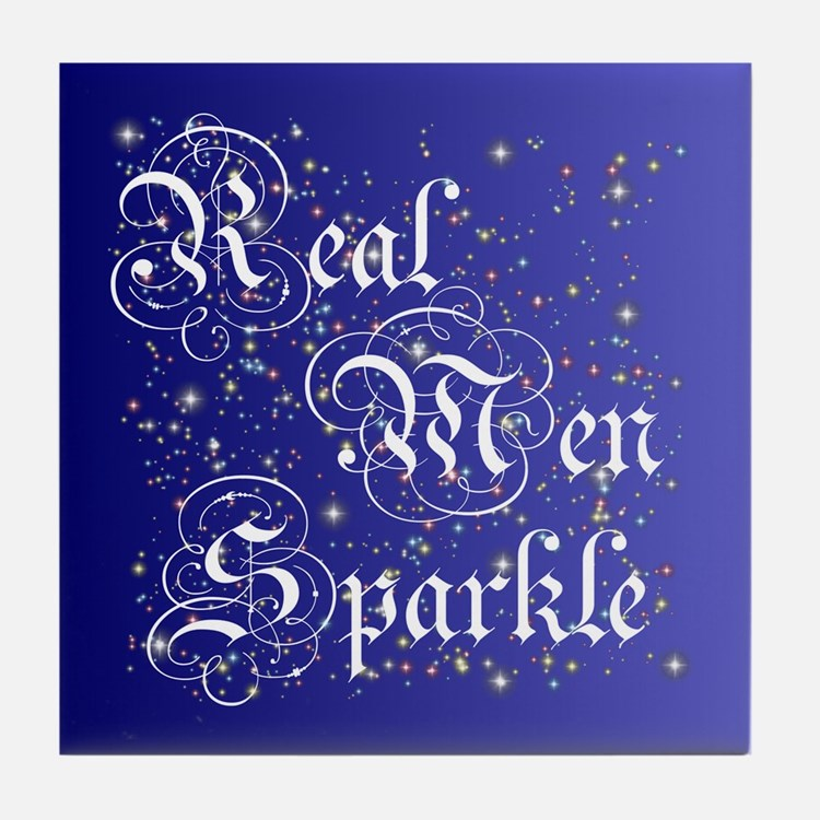 Real Men Sparkle Twilight Tile Coaster