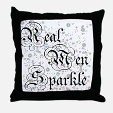 Real Men Sparkle Twilight Throw Pillow