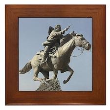Pancho Villa Framed Tile Statue Charging