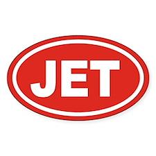 JET Euro Oval Oval Sticker (50 pk)