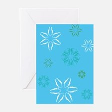 Swimmer Snowflakes Greeting Cards (Pk of 20)