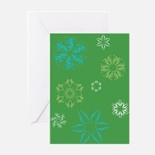 Triathlon Snowflakes Greeting Cards (Pk of 20)