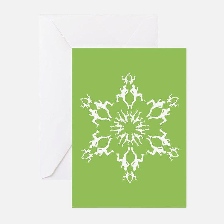 Runner Snowflake Holiday Greeting Cards (Pk of 10)