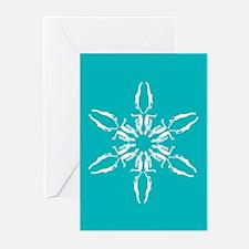 Swimmer Snowflake HolidayGreeting Cards (Pk of 10)