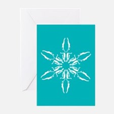SwimmerSnowflake Holiday Greeting Cards (Pk of 20)