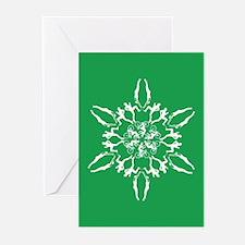 Triathlon Snowflake Greeting Cards (Pk of 10)