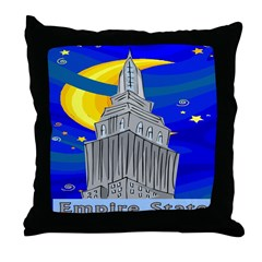 Starry Night New York Throw Pillow