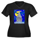 Starry Night New York Women's Plus Size V-Neck Dar