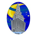 Starry Night New York Oval Ornament