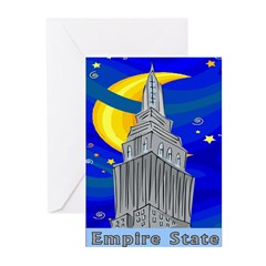 Starry Night New York Greeting Cards (Pk of 10)