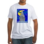 Starry Night New York Fitted T-Shirt