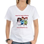 CHD Kids died Women's V-Neck T-Shirt
