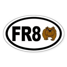 FR8 Dog (bull) Aviation Euro Oval Decal