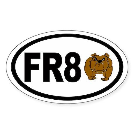 FR8 Dog (bull) Aviation Euro Oval Sticker