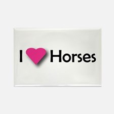 I LUV HORSES Rectangle Magnet