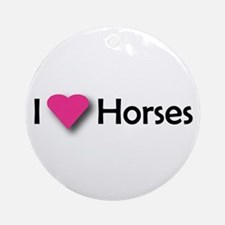 I LUV HORSES Ornament (Round)