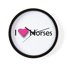 I LUV HORSES Wall Clock