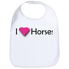 I LUV HORSES Bib