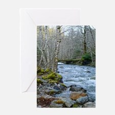 Spring Afternoon at the River Greeting Card