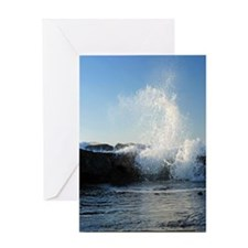 High Tide on the North Jetty I color Greeting Card