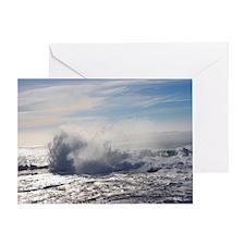 Waves Crashing III (color) Greeting Card