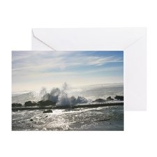 A Rough day on the Ocean (color) Greeting Card
