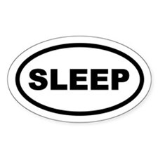 Sleep Oval Decal