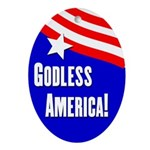 Godless America oval ornament