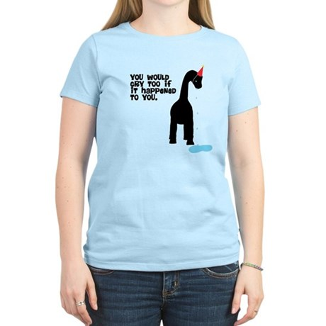 Sad Party Dinosaur Women's T-Shirt