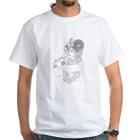 Krishna: Color Your Own White T-Shirt