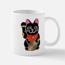 Black Maneki Neko Mug