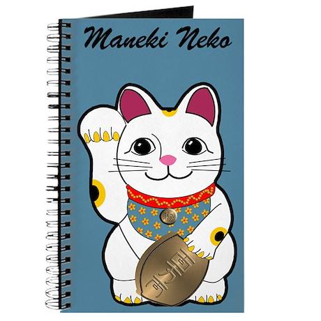 White Maneki Neko Journal