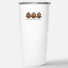 3 Wise Sock Monkeys Thermos Mug