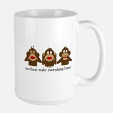 3 Wise Sock Monkeys Mug