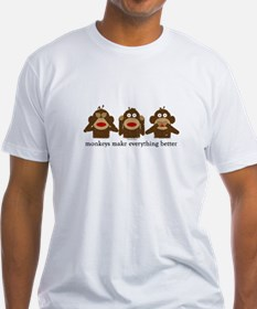 3 Wise Sock Monkeys Shirt