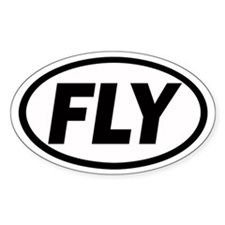 FLY Euro Oval Bumper Stickers