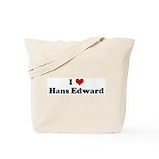 I Love Hans Edward Tote Bag