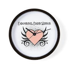 Endometrial Cancer Warrior Wall Clock
