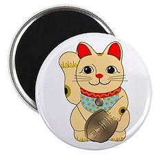 Gold Maneki Neko Magnet